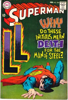Superman 204, DC Comics, Lois Lane comic book, Lana Lang, Lori Lemaris, Neal Adams from 1968 in VF (8.0)