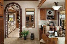 RoamingTimes.com - 2011 Forest River Cedar Creek fifth wheel interior - 36RD5S arrangement