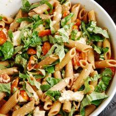 Caprese Pasta Salad Recipe--I substitute for gluten-free pasta & vegan mozzarella.