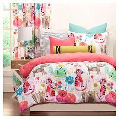 Crayola Purrty Cat Comforter and Shams - Pink (Full/Queen) : Target