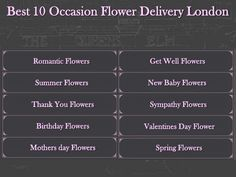 Best 10 occasion flower delivery in london