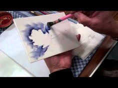 Iris - Porcelain Painting Stage 5 (First Fire) by Chris Ryder, Bala