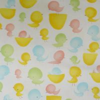 This print features lots of chicks - green, yellow, red and blue!  It is perfect for baby blankets and layette items.   by Free Spirit
