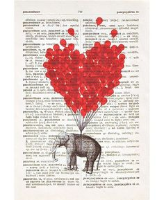 Original vintage dictionary art. Love!!