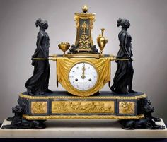Clock with Vestals. Movement by Sauvageot. C. 1785