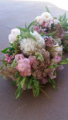 Peonies with hydrangeas n veronica