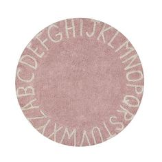 Lorena Canals vaskbart gulvtæppe, ABC vintage nude - Ø: 150 cm