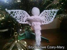 Boze Narodzenie # aniolek - sopelek # swieta # crochet