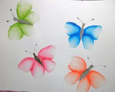 Colorful butterflies in watercolor painting Source by katellaquarelle Easy Watercolor, Watercolor Tattoo, Watercolor Paintings, Bee Painting, Painting For Kids, Bee Tattoo, Bee Art, King Jr, Art Drawings