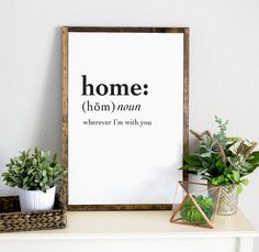 home decor quotes Framed Wall Quote Artwork, Gift Ideas for Family, Hanging Framed Artwork for Vintage Home, Black Whi Home Decor Quotes, Handmade Home Decor, Handcrafted Gifts, Traditional Interior, First Home, Frames On Wall, Home Decor Accessories, Framed Artwork, Framed Wall