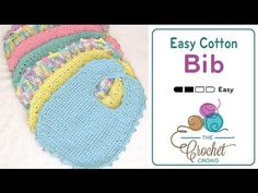 Introducing these easy to Crochet Bibs featuring Bernat Handicrafter or Sugar Lily'n Cream. These are both 100% cotton yarns that are terrific for the use of...