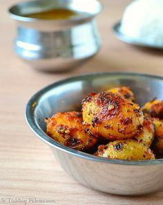 Baby Potato Sambal. A #Vegan #sidedish that goes well with rice.