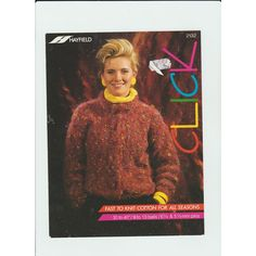 901e6a01b5fb5d Knitting Pattern - Unused Hayfield 2132 - Teen Lady s Chunky Knit Sweater 30 -40