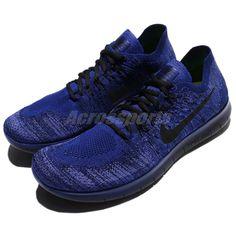 5ba414881e61e Nike Free RN Flyknit 2017 Deep Royal Blue Men Running Shoes Trainers  880843-406