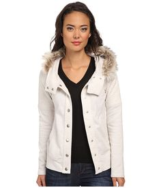 $40: Fox Reflect Fur Trimmed Jacket Heather Pearl - 6pm.com