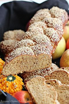 whole wheat pumpkin challah by RoxanaGreenGirl | Roxana's Home Baking, via Flickr