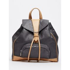 Leah Leather Backpack Grey