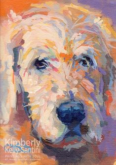 Paintings With Soul: Oliver - a colorful blonde