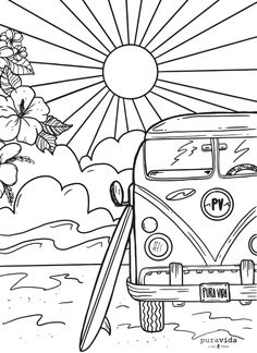 Looking for a creative outlet? Check out our brand new Pura Vida coloring sheets! 🎨 Coloring is known to reduce stress and anxiety levels, all while having some fun! Put some music on and get coloring, PV fans! For all our boss babes out there 👊🏼👑 Detailed Coloring Pages, Cute Coloring Pages, Printable Coloring Pages, Adult Coloring Pages, Coloring Sheets, Coloring Books, Doodle Drawings, Doodle Art, Easy Drawings