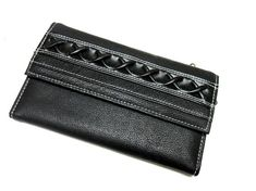 Black Wallet Braid Billfold Checkbook by sweetie2sweetie on Etsy, $8.99