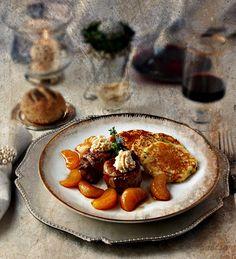 La cocina de Frabisa: Solomillo con mandarinas confitadas y blinis