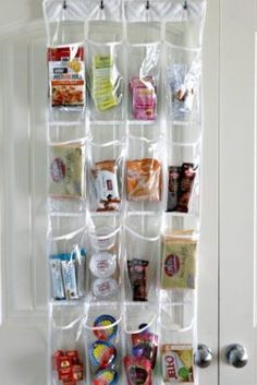 Use A Shoe Organizer To Store Food Items In Pantry