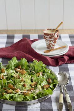 ensalada cesar Salad Recipes Video, Salad Recipes For Dinner, Healthy Salad Recipes, Rice Recipes, Chicken Recipes, Guacamole, Caesar Salad, Mussels, Recipe Images