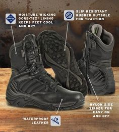 ae158452a3d2 Waterproof Leather and Non-Puncture Nylon Upper • Moisture Wicking GORE-TEX®