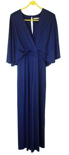 NWOT Trina Turk Blue Jumpsuit Small Dolman Draped Straight Leg Small Size 2 #TinaTurk #Jumpsuit
