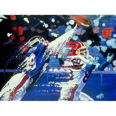 "Buffalo Bills vs. New York Giants Deacon Jones Foundation 24"" x 36"" Deflection Dueling Giclee on Canvas - $1249.99"