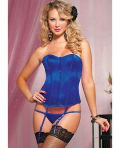 eeeb1096942 Perfect Polished Corset - Green S - Sheer Desire - Be poised and perfectly  polished in a zipper front satin corset fit for a princess.