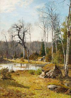 Olof Hermelin (1827-1913): Vårlandskap, 1886