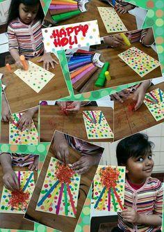 #HappyHoli #ColourfulFire #PolkaDots #GreetingCard #FestivalWishes #GiftofLove