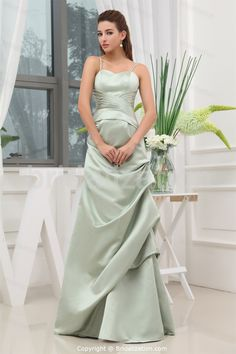 Light Green Spaghetti Straps Sleeveless Bridesmaid Dress -Bridesmaid Dresses