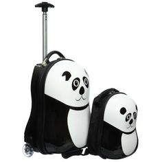 @Overstock - Set includes: 17-inch wheelie luggage and 12-inch backpack  Design: Panda  Materials: Abs, nylonhttp://www.overstock.com/Luggage-Bags/Trendykid-Travel-Buddies-Panda-2-pc-Hardside-Kids-Carry-On-Luggage-Set/6023535/product.html?CID=214117 Add to cart to see special price
