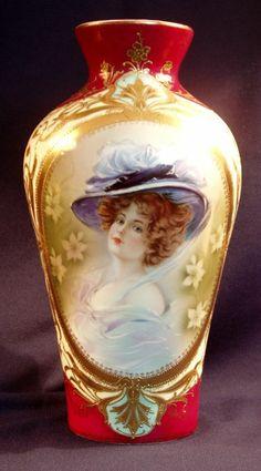 R.S. Prussia Portrait Vase