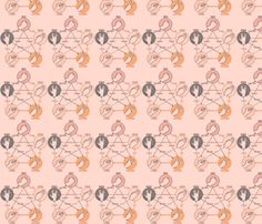 Big Bang Theroy Pink  fabric by trunkdesign on Spoonflower - custom fabric