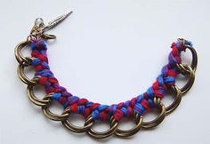 Fiche créative: Bracelet chaîne tressé DIY