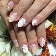 ブライダルネイル Bridal Nails Designs, Nail Designs, Wedding Beauty, Wedding Makeup, Round Nails, Wedding Nails, Nail Tips, Pretty Nails, My Nails