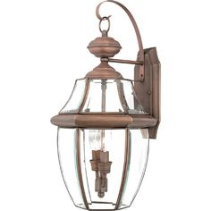 Newbury Aged Copper Large Outdoor Wall Mount