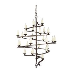 Extraordinary decorative lighting designs in artisan glass and metalwork for residential, hospitality, and commerical spaces. Mediterranean Chandeliers, Mediterranean Design, Wrought Iron Chandeliers, Contemporary Chandelier, Gothic Home Decor, Gothic House, Rustic Elegance, Log Homes, House Design