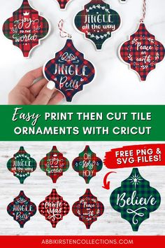 Christmas Tree Template, Christmas Fonts, Christmas Ornaments To Make, How To Make Ornaments, Christmas Decor, Christmas Ideas, Ornament Template, Ornament Tutorial, Ornament Crafts