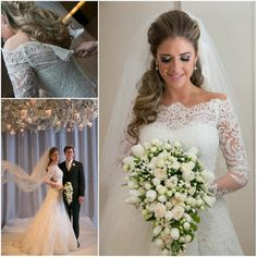 Unique Strapless Off the Shoulder Long Sleeve Lace Wedding Dress Sweep Train A-line vestidos de novia 2014 Hot $229.00