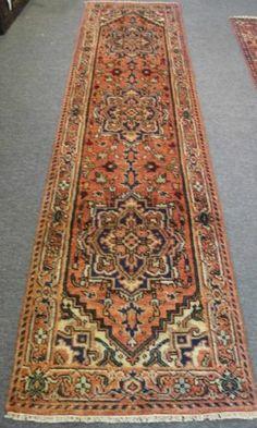 2'6x9'9 Persian Heriz Style Serapi Oriental Hand Knotted Veg Dye Wool Rug Runner
