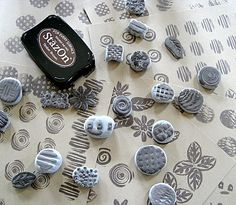 """CAN'T STOP MAKING THINGS: DIY Rubber Stamps - Crayola makes something called """"Model Magic"""" which is a clay-like material that comes in a number of colors"""