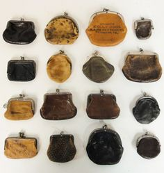 Lost Found Art - Antique Leather Coin Purses