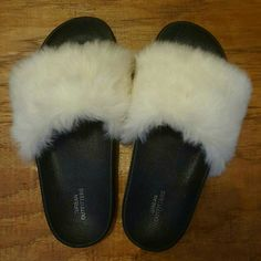 393ccf8c5143 Shop Women s Urban Outfitters Black White size 6 Slippers at a discounted  price at Poshmark.