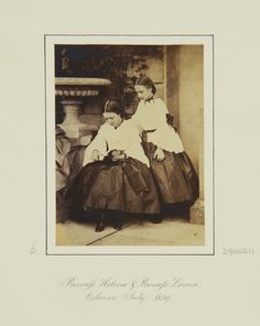 Princess Helena and Princess Louise, Osborne, July 1859 [in Portraits of Royal Children Vol.4 1859-1860] | Royal Collection Trust