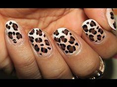 Ombre Leopard Nail Art
