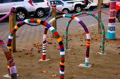 Yarnbombing: Creating Public Art with Yarn Culture Jamming, Urban Intervention, Small Study, Yarn Bombing, Public Art, Graffiti Art, Urban Art, Yorkie, Lana
